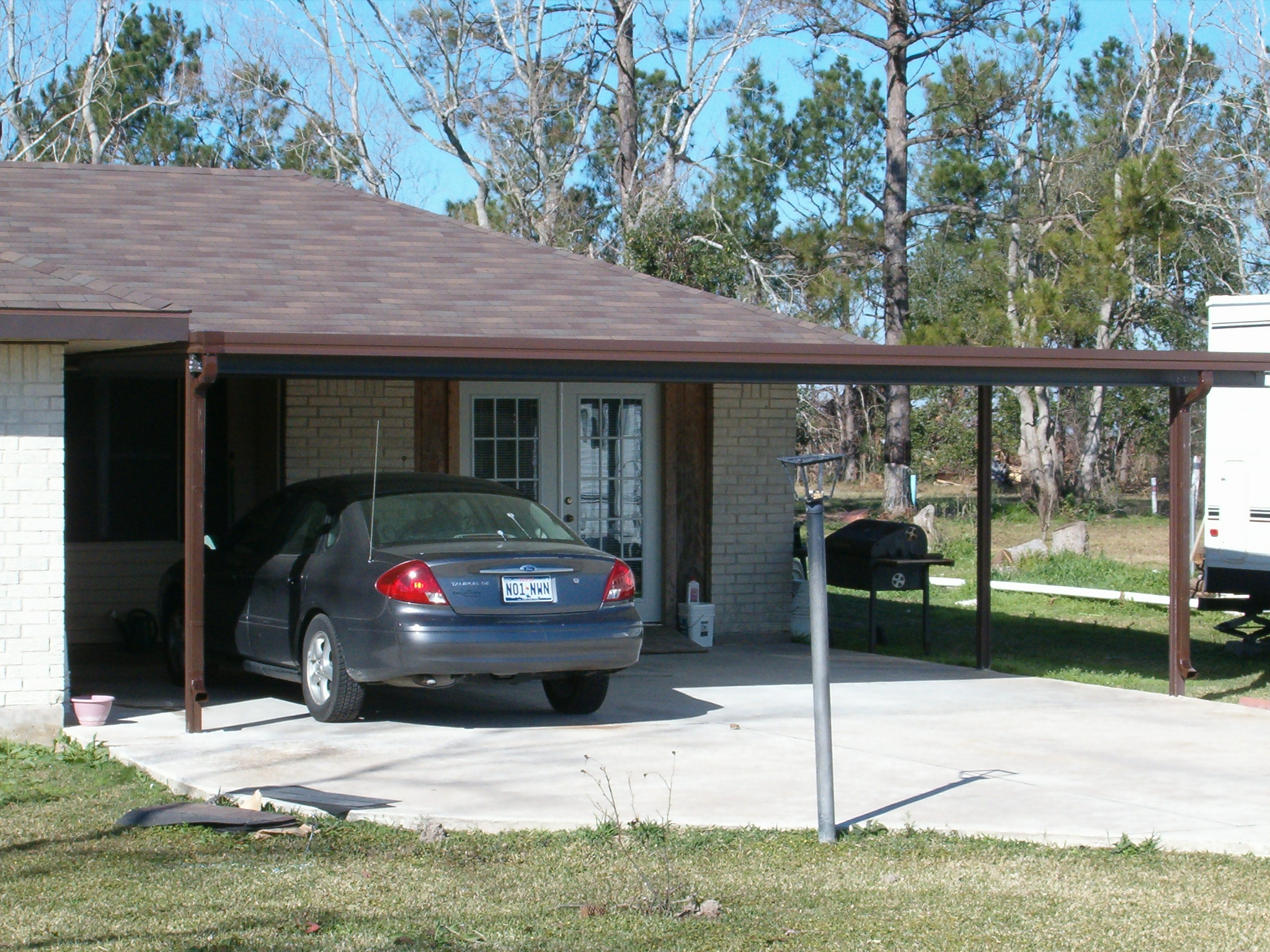 Carport aluminum carport covers for Carport deck combination
